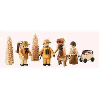 Saico figure set forest set of eight, nature