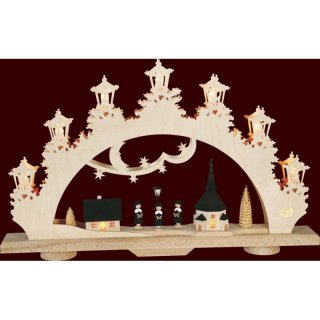 Saico candle arch 3D arch carolers-singer