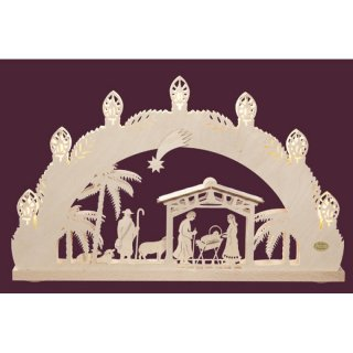 Saico candle arch Christi nativity 3D
