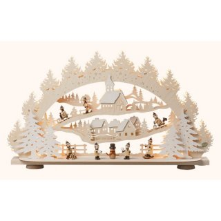 Saico candle arch winter in the winter village 3D