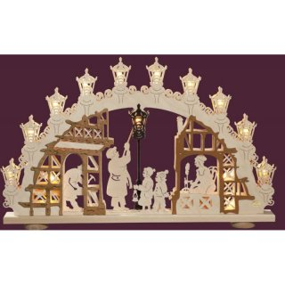 Saico candle arch lamp man 3D