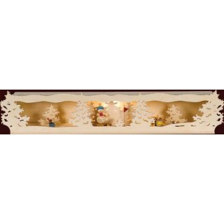 Saico candle arch elevation 3D arch snowman