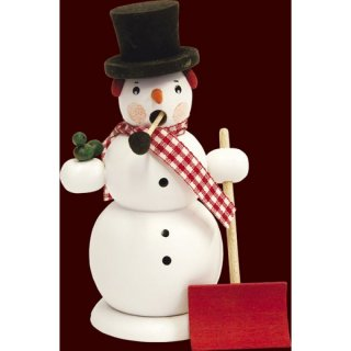 Saico Smoker snowman, white with shovel