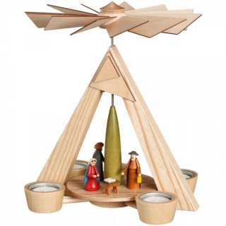 Schalling tealight pyramid Christi nativity nature