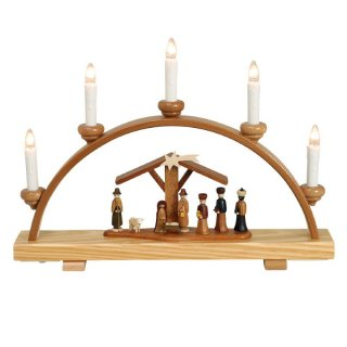 Zeidler candle arch with Christi nativity small, electric
