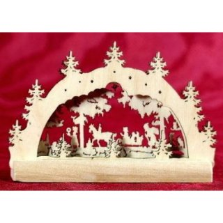 candle arch fairy tale forest miniature