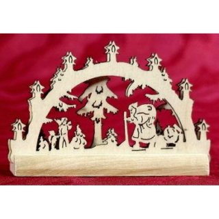 candle arch Santa Claus miniature