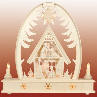 Seidel round arch christmas house