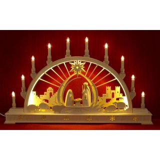 Seidel candle arch Christi nativity with LED lighting