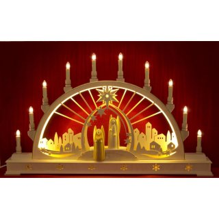 Seidel candle arch angel with LED lighting