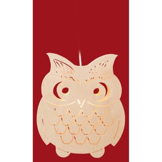 Taulin window picture owl heavy - electric illuminated
