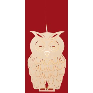 Taulin window picture owl - electric illuminated