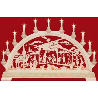 Taulin candle arch motif Christi nativity with camel