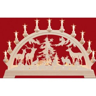 Taulin candle arch animals in the forest - with front...