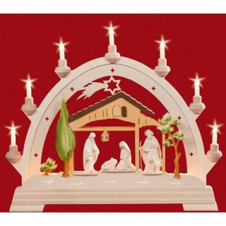 Taulin round arch Christi nativity colored