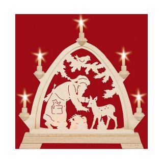 Taulin round arch Santa Claus with deer - with front...