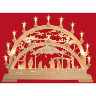 Taulin candle arch Pinie Nativity