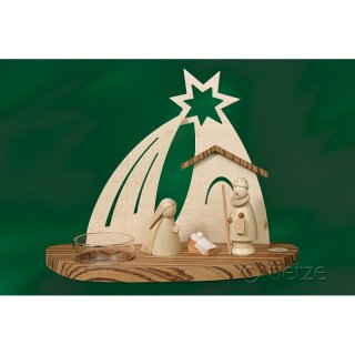 Tietze tealight holder christi nativity