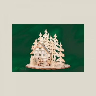 Tietze tealight holder ski cottage