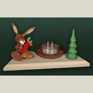 Tietze tealight holder rabbit with carrot