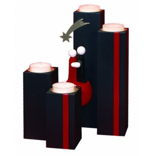 Ulmik advent candlestick black bordeaux