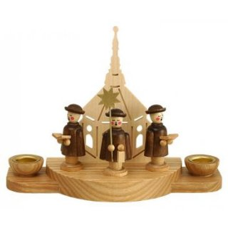 Unger candle holder carolers motif church