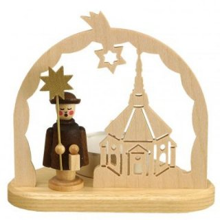 Unger tealight carolers motif church