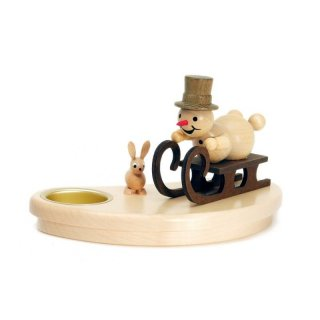 Wagner snowman chandelier racing sled driver