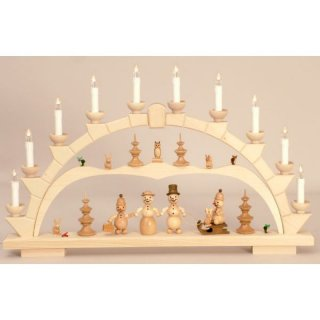 Wagner candle arch snowman family
