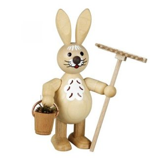 Wagner easter bunny with bucket and rake