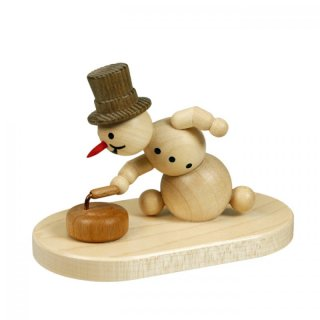 Wagner snowman curling player with stone