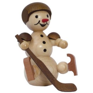 Wagner snowman ice hockey player sitting