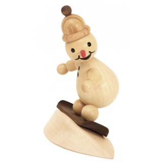 Wagner snowman junior on snow with cap