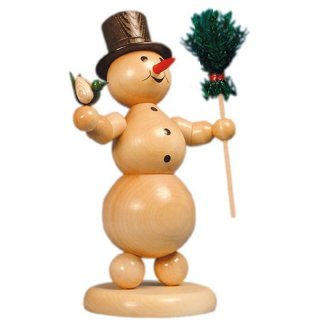 Wagner snowman with broom and bird