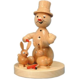 Wagner snowman with rabbit