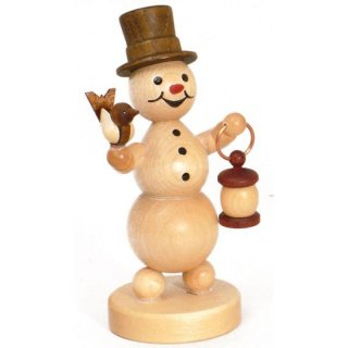 Wagner snowman with bird and lantern