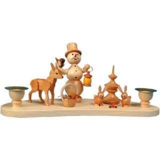 Wagner snowman chandelier with animals for 2 candles