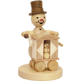 Wagner snowman musician hurdy-gurdy player