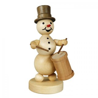 Wagner snowman musician with long drum