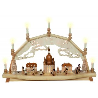 Weisbach candle arch woman church with moving figures