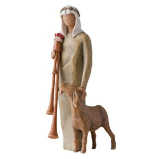 Willow Tree Shepherd with Bagpipe - Hirte mit Dudelsack