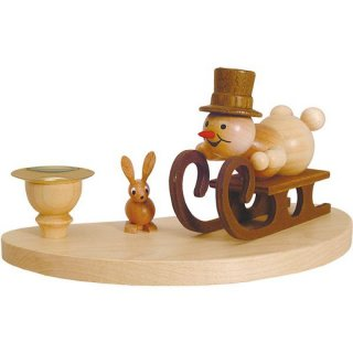 Wagner snowman chandelier racing sled driver for 1 candle