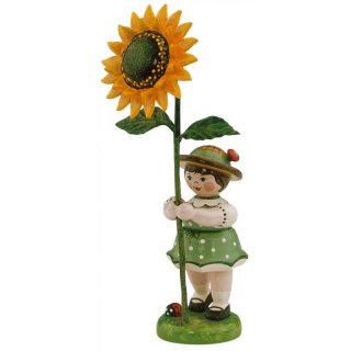 Hubrig flower kid - flower girl with sunflower