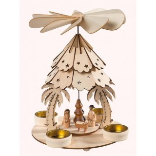Saico table pyramid with roof Christi nativity
