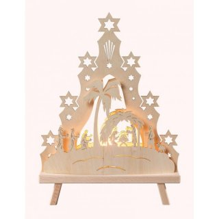 Saico LED triangle arch Christi nativity
