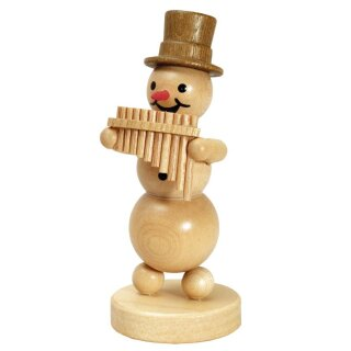Wagner snowman musician with pan flute