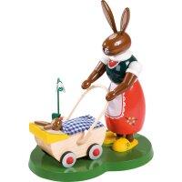 Richard Glässer Hase mit Kinderwagen