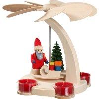 Seiffener Bogenpyramide klein Weihnachtsmann mit Schlitten