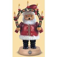 Müller Smoker Santa Claus with candle arch medium-sized