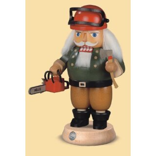Müller nutcracker forest worker with chainsaw